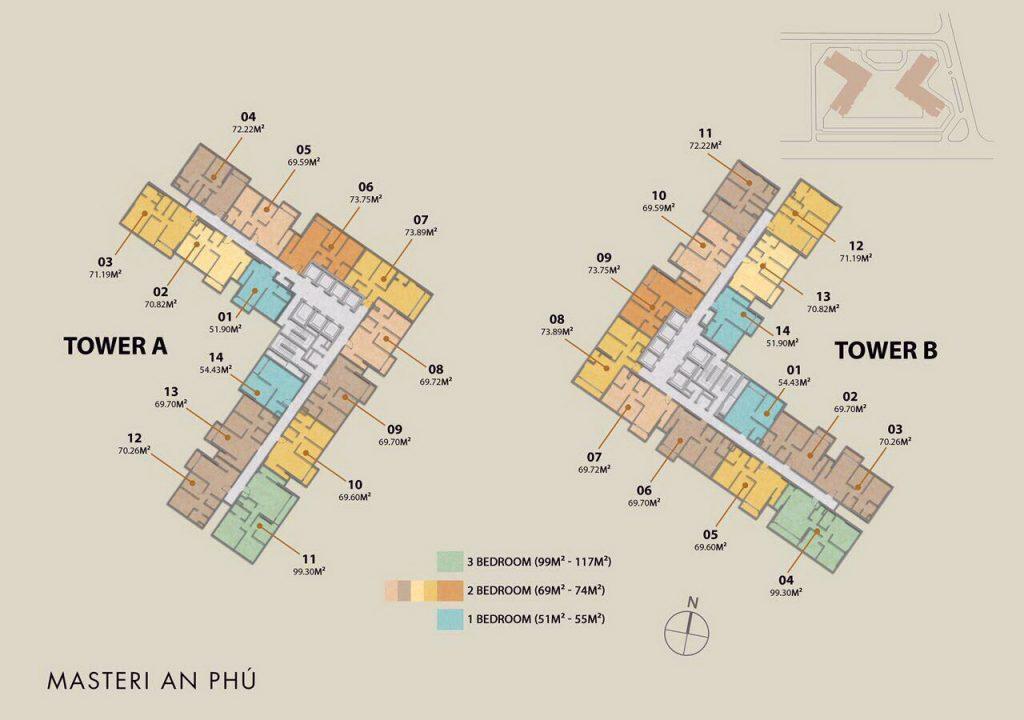 Mặt bằng tầng dự án Masteri An Phú Quận 2