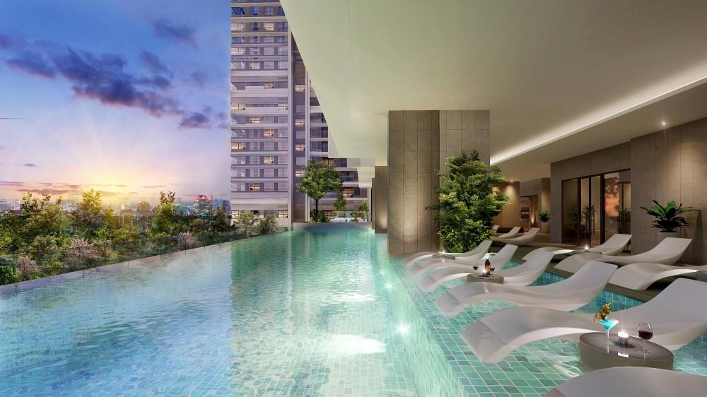 Hồ bơi căn hộ Kingdom101 Tô Hiến Thành