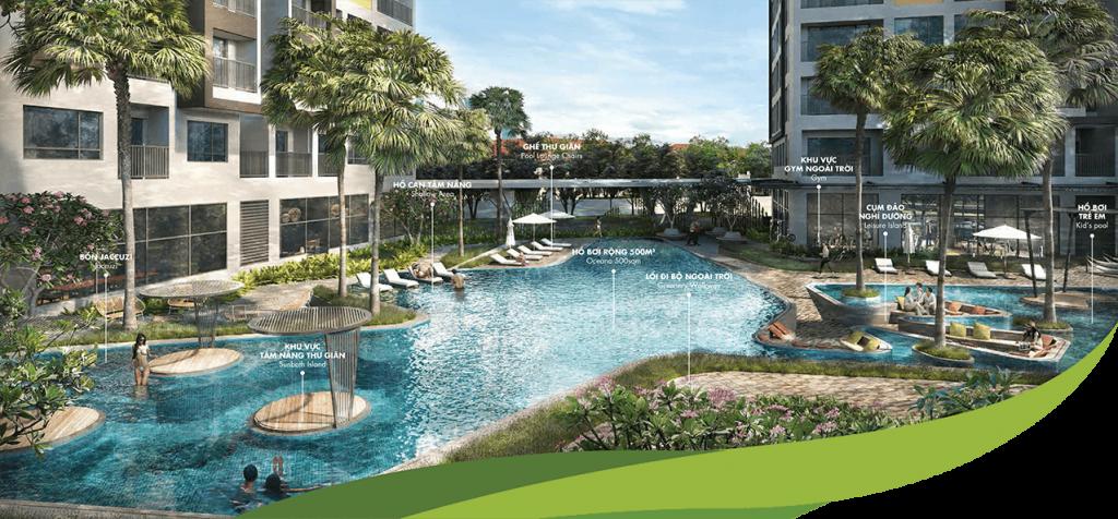 Hồ bơi căn hộ Masteri An Phú Quận 2