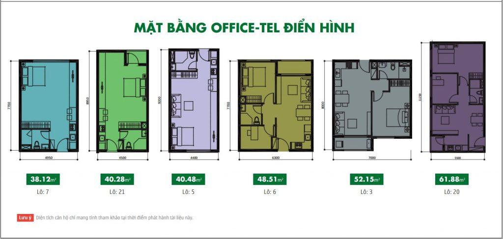 Mặt bằng tầng officetel Botanica Premier