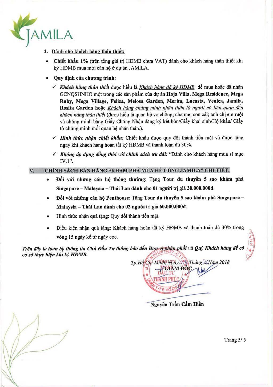 Phương thức thanh toán căn hộ Jamila Khang Điền Quận 9 tháng 4/2018