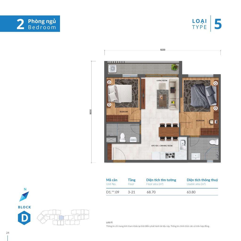 Thiết kế căn hộ Safira Khang Điên Quận 9